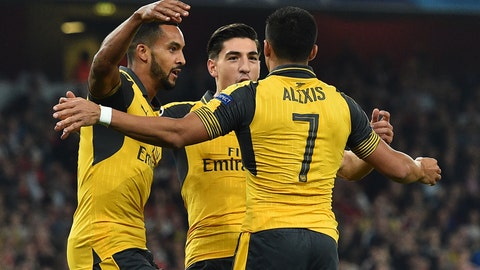 Arsenal (Previously: 10)