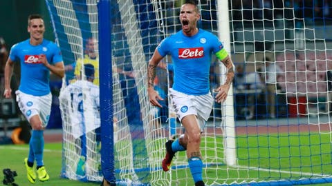 Napoli successfully reinforced their offense