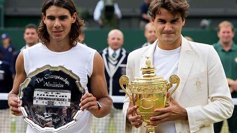 8. 2006 Wimbledon -- Nadal era begins