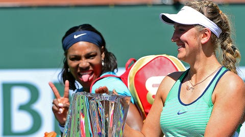 Serena Williams with Victoria Azarenka
