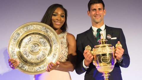 Serena Williams with Novak Djokovic