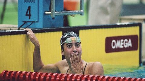 Janet Evans (1988-1996); swimming; 4 G, 1 B