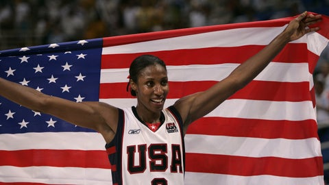 Lisa Leslie (1996-2008); basketball; 4 G