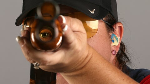 Kim Rhode medaling, death and taxes