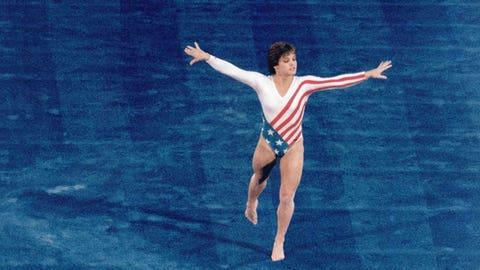 Mary Lou Retton (1984); gymnastics; 1 G, 2 S, 2 B