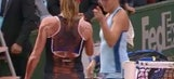 Controversial French Open match ends with contentious, heated handshake