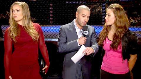 Ronda Rousey, Jon Anik, and Miesha Tate
