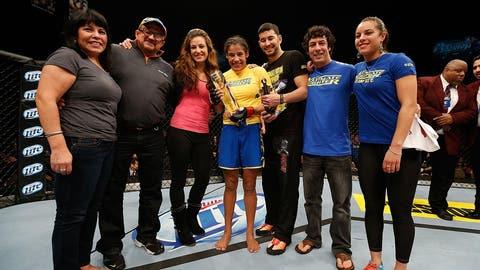 The first-ever women's Ultimate Fighter winner: Julianna Pena