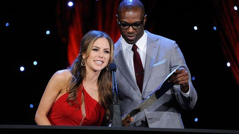 Brittney Palmer and Terrell Owens