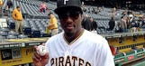 Phil Davis throws out first pitch at Pirates game, jokes about playing baseball