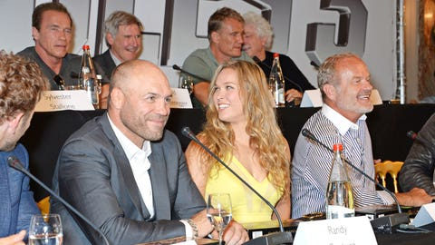 Ronda Rousey along with Randy Couture