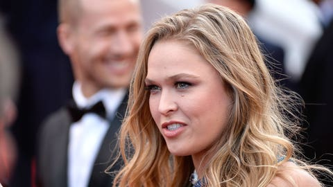 Ronda Rousey smiles on the red carpet