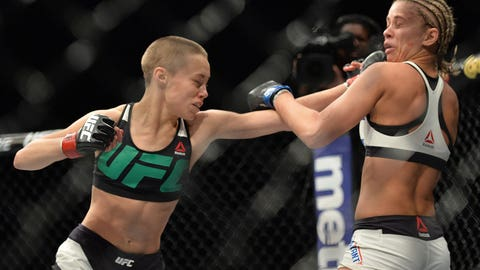 10 photos of Rose Namajunas laying the smackdown on Paige VanZant