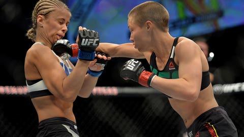 10 photos of Rose Namajunas laying the smackdown on Paige VanZant