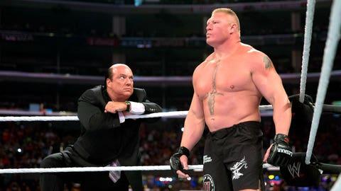 Paul Heyman (@HeymanHustle, current on-screen advocate of WWE Superstar Brock Lesnar)