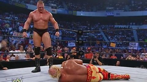 Lesnar vs. Hulk Hogan, August 2002