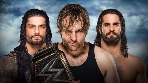 Dean Ambrose (-400) v. Seth Rollins (+250) v. Roman Reigns (+525) for the WWE championship