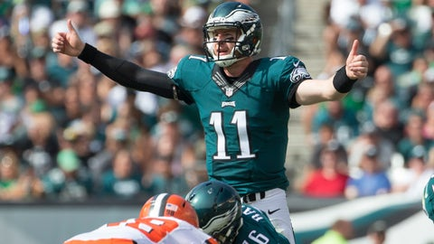 Carson Wentz: Returning from Wentz he came