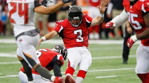 Falcons K Matt Bryant -- owned in 20.2% of leagues