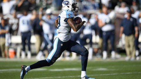 Titans WR Tajae Sharpe -- owned in 48.7% of leagues