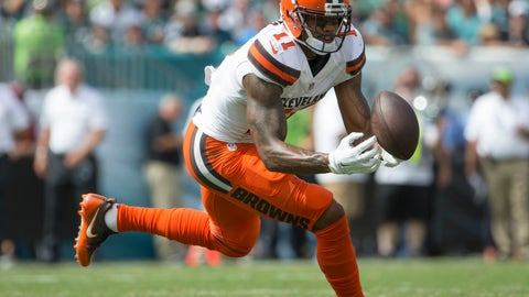 Browns WR Terrelle Pryor -- owned in 22.3% of leagues