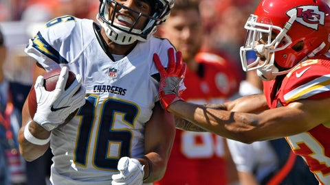 Chargers WR Tyrell Williams -- owned in 22.3% of leagues