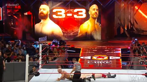 Cesaro vs. Sheamus in Match 7 (series tied 3-3)