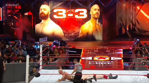 Cesaro vs. Sheamus in Match 7 (series tied 3-3)