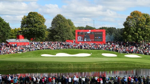 How does Team USA or Team Europe win the Ryder Cup?