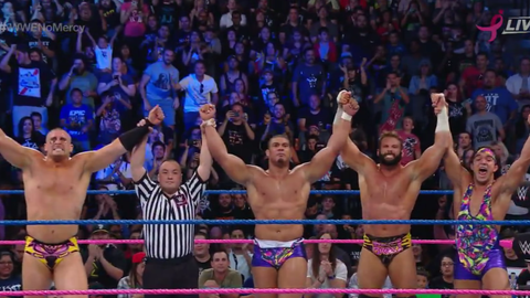 American Alpha and The Hype Bros defeat The Vaudevillains and The Ascension