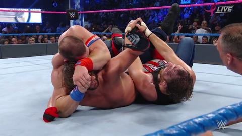AJ Styles pins John Cena to retain the WWE World Championship
