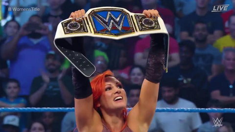 Becky Lynch wins the six-pack challenge for the WWE SmackDown Women's Championship