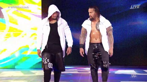The Usos defeat The Hype Bros in the tag tournament semifinals