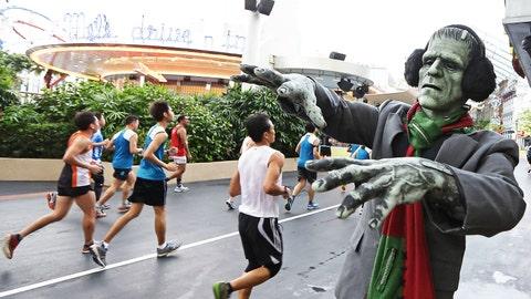 Run! It's Frankenstein's monster!