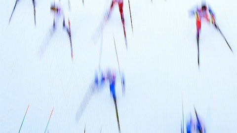 Raining skiers