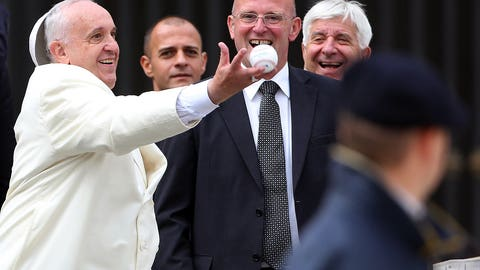 The Pope's havin' a ball