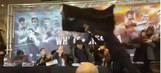 British boxer launches a table at opponent during heated press conference