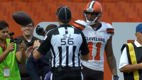 The officials for that taunting penalty against Browns WR Terrelle Pryor