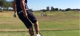 You've never seen a Happy Gilmore-style drive like this before