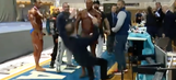 Angry bodybuilder slaps judge, flips tables after losing competition