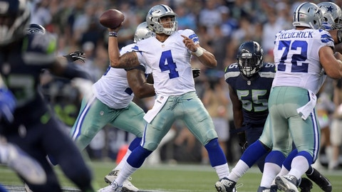 Dak Prescott, QB, Cowboys (2nd last week)