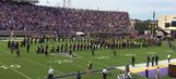 East Carolina University band members booed after kneeling during anthem