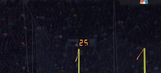 A Stanford field goal attempt bounced right off the top of the upright