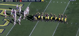 Michigan used its wacky 11-man I-formation again to score a touchdown