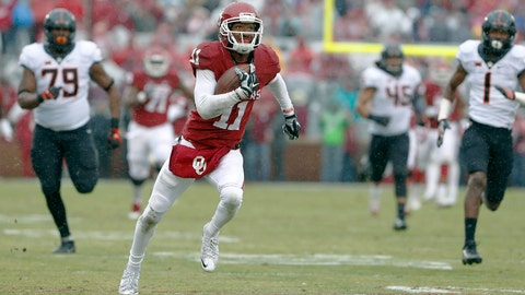 Browns(from Titans): Dede Westbrook, WR, Oklahoma