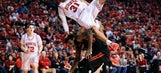 Nebraska's Shavon Shields is alert, moving after hard fall