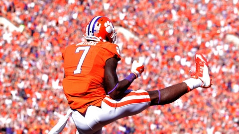 Mike Williams, WR, Clemson (and DeShaun Watson too) (at Auburn, Saturday, 9 p.m. ET)