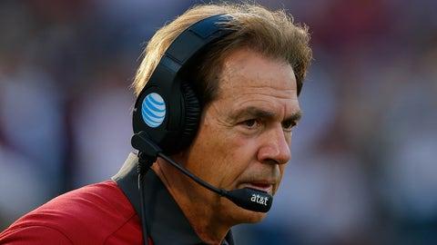 Alabama (Ohio State beating Michigan Nov. 26)