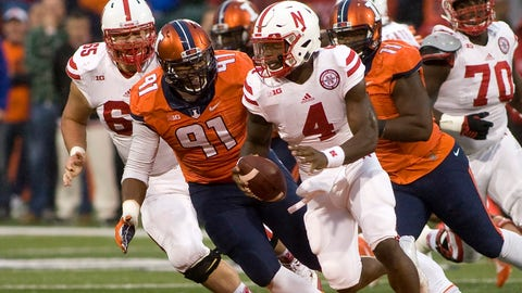 NCAA Football: Nebraska at Illinois