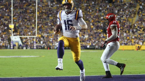 Danny Etling will be firmly entrenched as LSU's starter by the Auburn game two weeks from now
